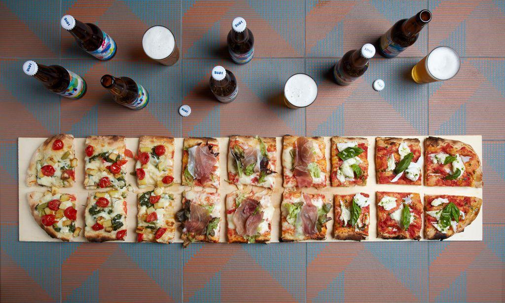 Birra e pizza prodotta nell'agriturismo di BAAM